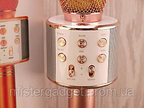 Микрофон для караоке WS-858 с Bluetooth Беспроводной , фото 3