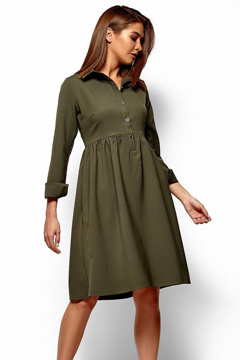 (M / 44-46) Класичне зелене плаття-міді Trisha