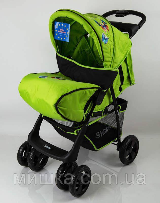 Детская коляска Sigma S-K-6F Green прогулочная