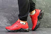Мужские  кроссовки Nike Air Max Tn теплые зимние  яркие удобные на низком ходу найки (красные), ТОП-реплика, фото 1