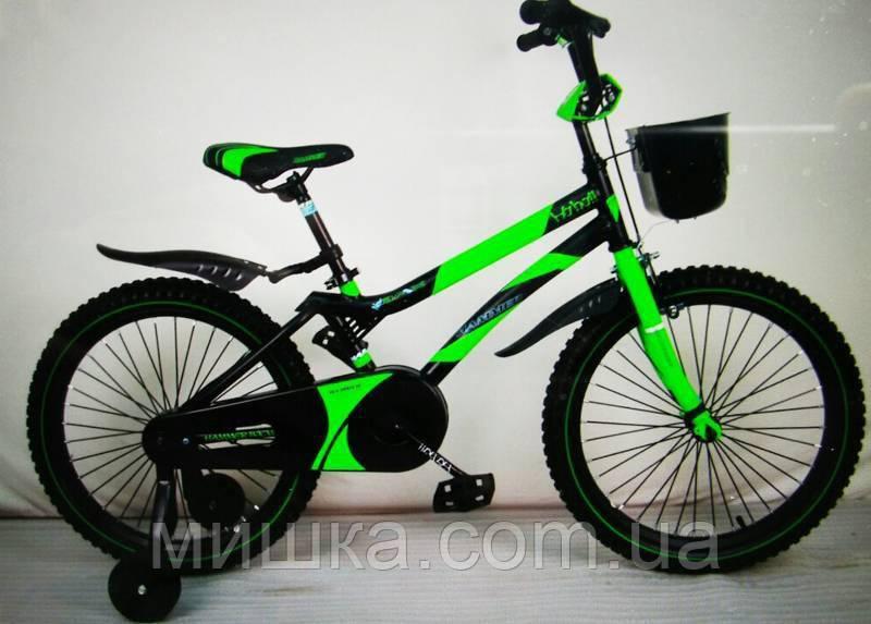 """Велосипед детский 20"""" S500 зеленый"""