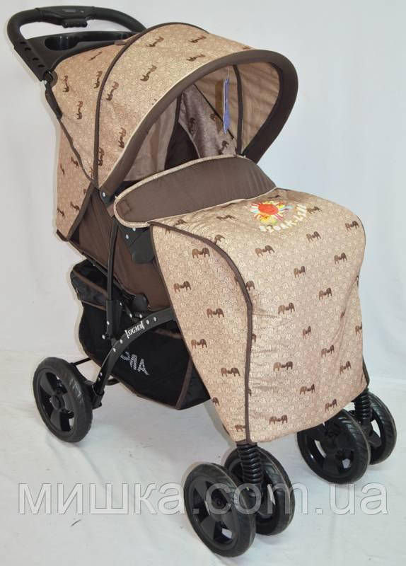 Детская прогулочная коляска Sigma YK-8F бежево-коричневый