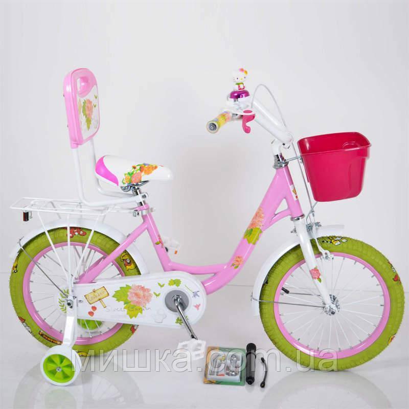 """Детский велосипед ROSES Pink 18"""" двухколесный для девочки"""
