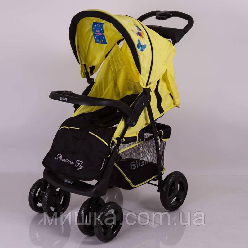 Детская коляска Sigma S-K-6F yellow прогулочная