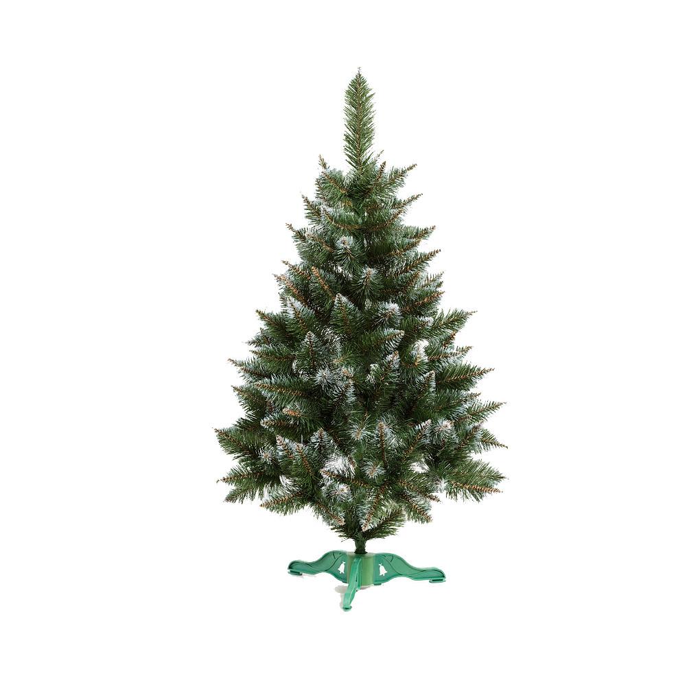 Ель искусственная новогодняя Рождественская Зеленая с Белыми кончиками 180см  РБК-1,80
