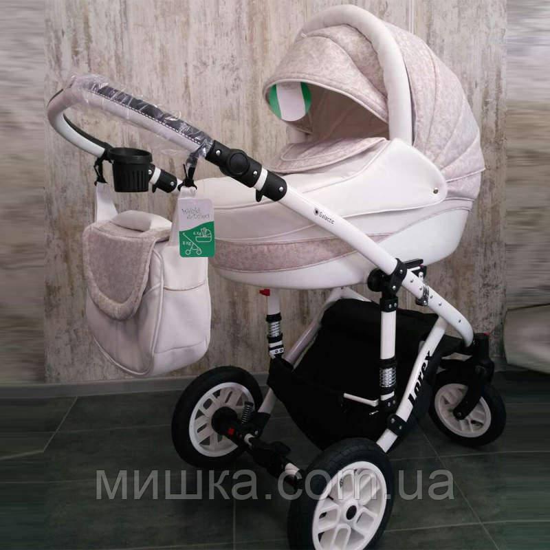 Детская коляска LOREX REMIX white универсальная