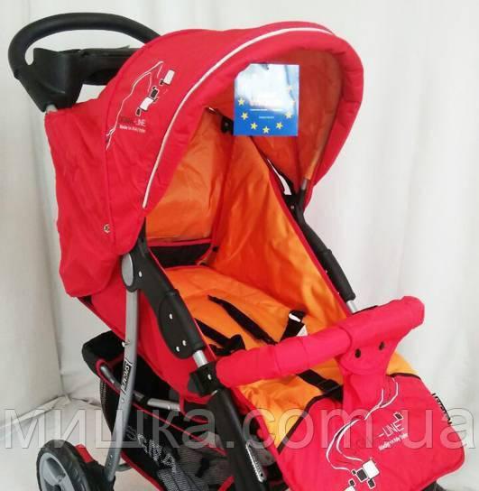 Детская коляска Sigma K-038F-2 прогулочная с москитной сеткой красная