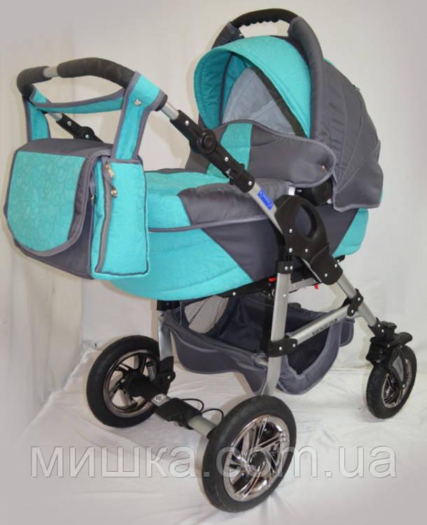Детская коляска универсальная VENEZIA Grey blue