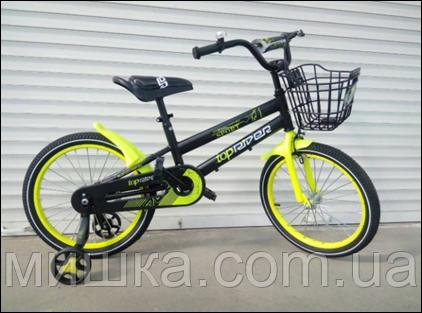 """Велосипед TopRider-01 12"""" салатовый детский двухколесный"""