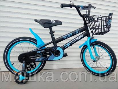 """Велосипед TopRider-01 18"""" синий детский двухколесный"""