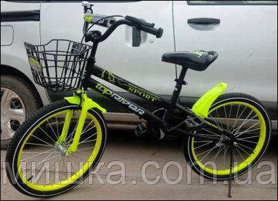"""Велосипед TopRider-01 18"""" салатовый детский двухколесный"""