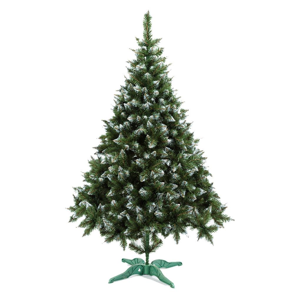 Ель искусственная новогодняя Рождественская Зеленая с Белыми кончиками 210см РБК-2,10