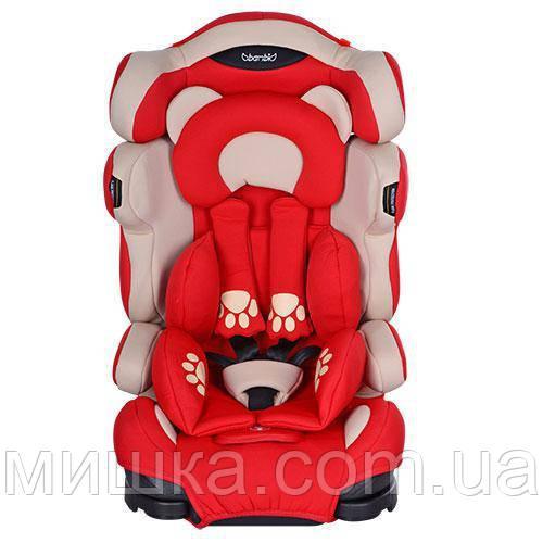 Детское автокресло M 3653 красный цвет