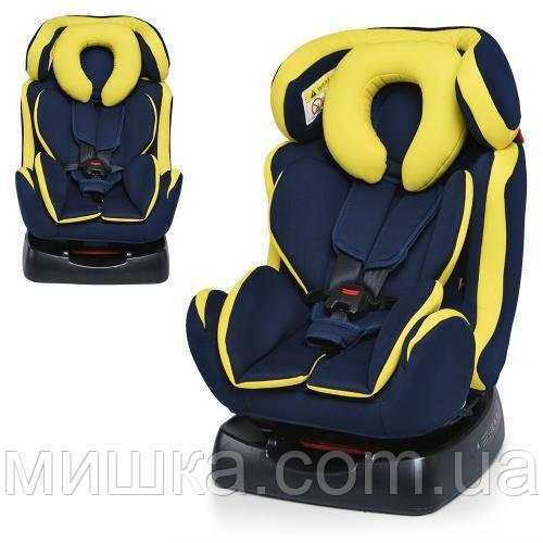 Детское автокресло M 3678-2 сине-желтый цвет
