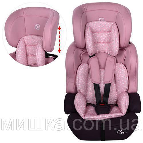 Детское автокресло EL CAMINO ME 1002-8 FLORA розовый