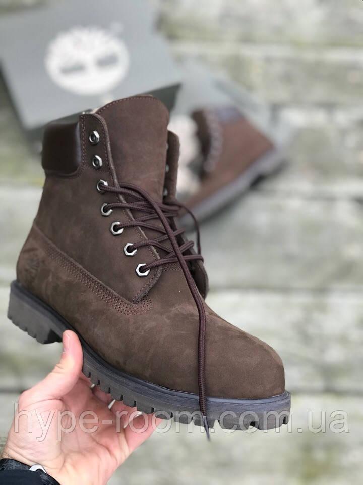 aeb555a1 Зимние Мужские Ботинки Timberland (натуральный мех) Люкс Реплика - <<The best  Hype