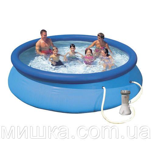Семейный наливной бассейн с фильтр-насосом Intex 28132 Easy Set