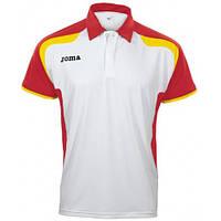 Поло для тенісу Joma біло-червоно-жовте 2102.22.1022