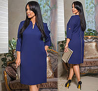 Женское прямое платье свободного кроя до колен 48,50,52-54,56-58,60-62р-ры
