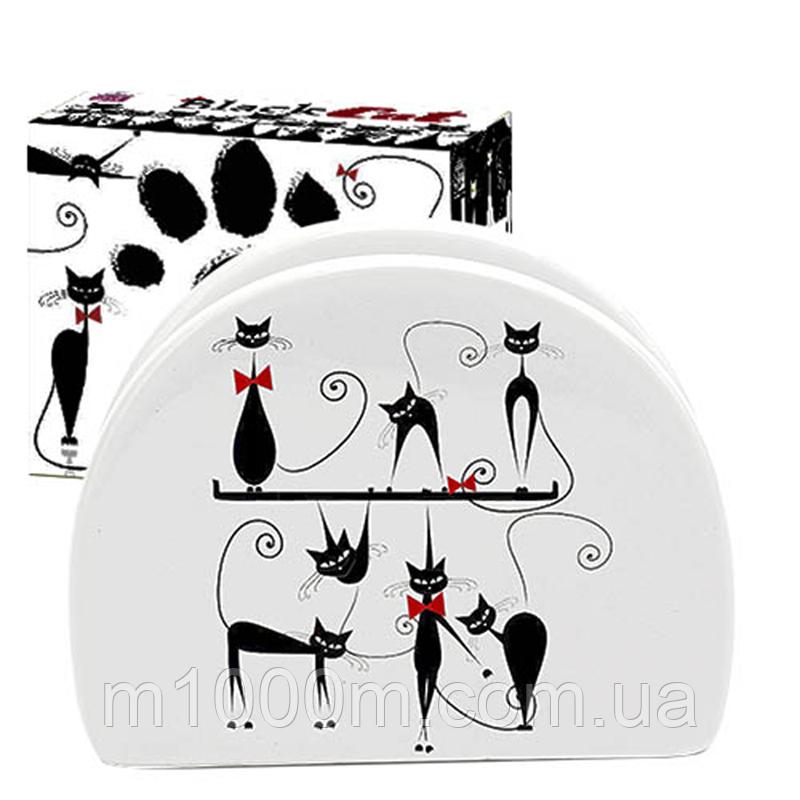 Салфетница керам. Черная Кошка 366212