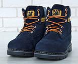 Зимние ботинки Caterpillar с мехом blue(cat). Живое фото. (Реплика ААА+), фото 7