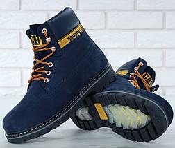 Зимние ботинки Caterpillar с мехом blue(cat). Живое фото. (Реплика ААА+)