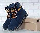 Зимние ботинки Caterpillar с мехом blue(cat). Живое фото. (Реплика ААА+), фото 8