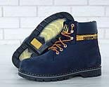 Зимние ботинки Caterpillar с мехом blue(cat). Живое фото. (Реплика ААА+), фото 9