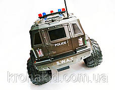 Машина на радиоуправлении (р/у) военный джип /полицейская SWAT W3828 аккумулятор 6V 700 МаЧ, фото 3