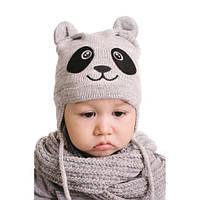 Шапка детская Панда  (44-46) для мальчика, фото 1