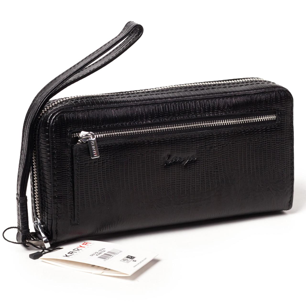 Мужской клатч Karya 0670-076 кожаный чёрный