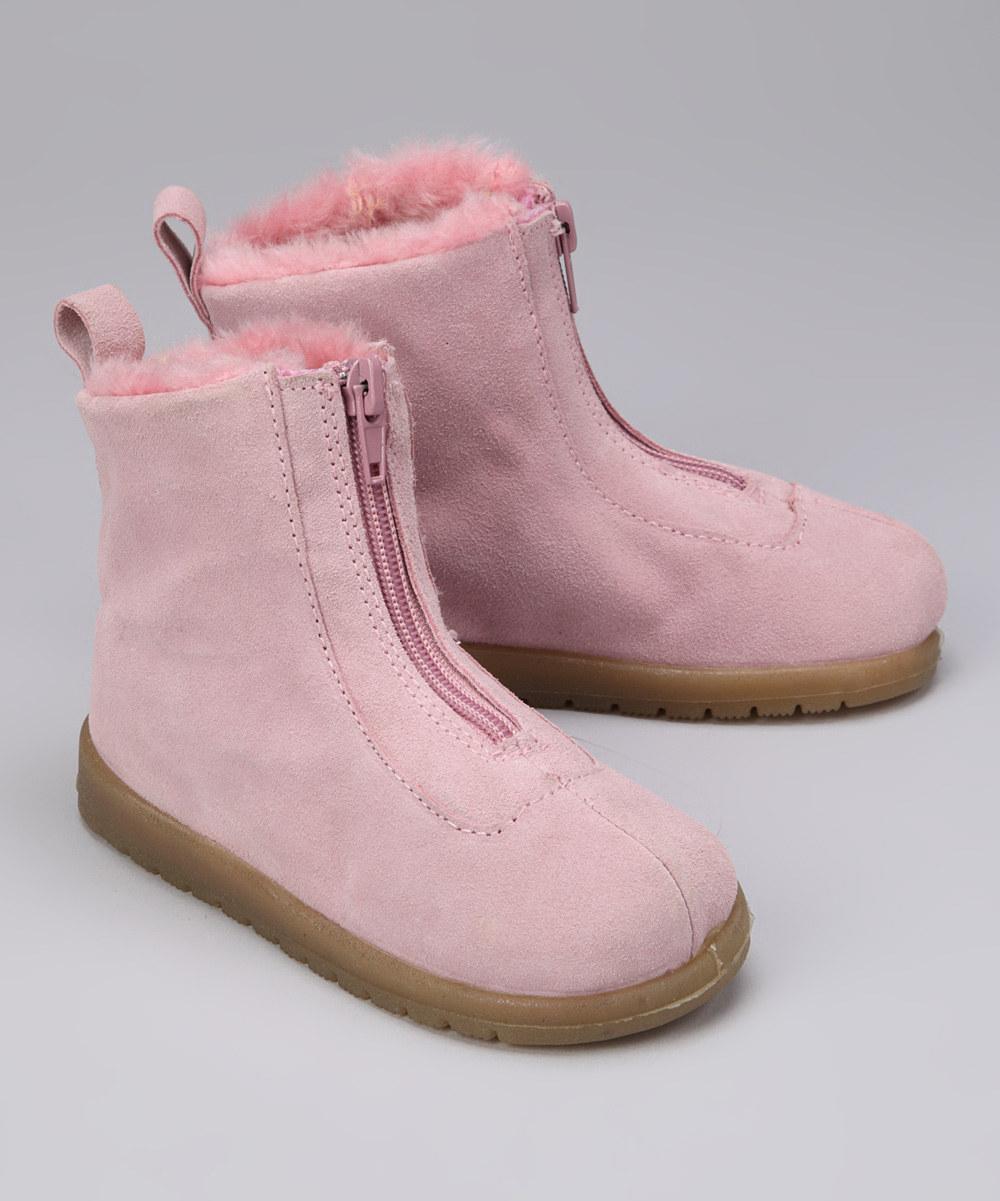 Натуральные замшевые демисезонные ботинки на меху SNO-WALK (Размер 15 см) (США)