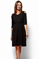 (S, M, L, XL) Класичне чорне повсякденне плаття Zlata