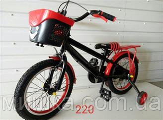 """Велосипед детский TopRider SX-220 16"""" с корзинкой красный"""