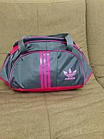 Сумка спортивная Adidas (серо-розовый цвет)