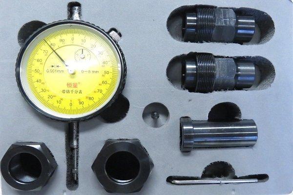 Комплект адаптерів з індикаторною головкою для вимірювання ходу клапана форсунки CR Siemens VDO всіх типів