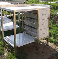 Столы производственные с ящиками из нержавеющей стали