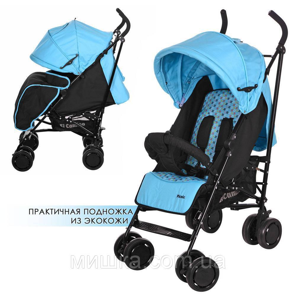 M 3419-12 PICNIC детская прогулочная коляска голубая