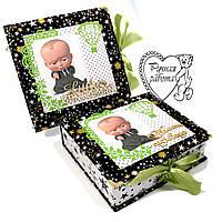 Набір фотоальбом, мамині скарби для хлопчика на народження ручної роботи