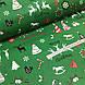 Ткань хлопковая новогодняя, Christmas на зеленом, фото 3