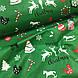 Ткань хлопковая новогодняя, Christmas на зеленом, фото 4