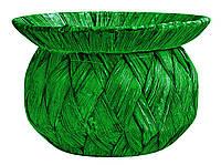 Корзина  из лозы зеленая 16 см
