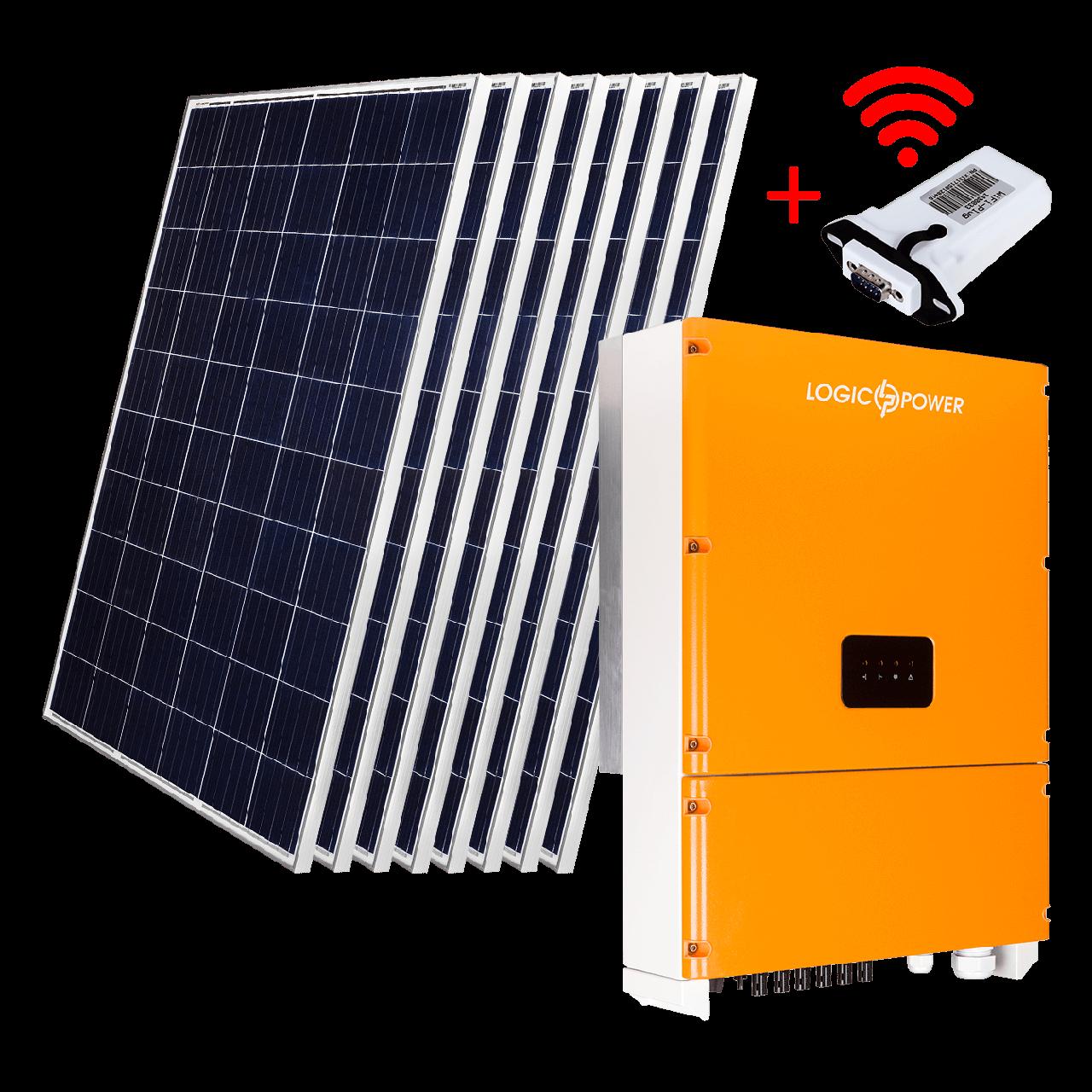 "Комплект СЭС ""Стандарт"" инвертор LPM-SIW-30kW + солнечные панели (WiFi)"