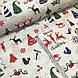 Ткань новогодняя хлопковая, Christmas на белом, фото 2