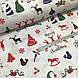 Ткань новогодняя хлопковая, Christmas на белом, фото 3