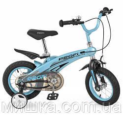 """Детский велосипед PROF1 LMG12121 12"""" магниевая рама, голубой"""