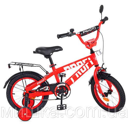 """Детский велосипед PROF1 T14171 Flash 14"""" двухколесный, красный"""