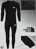 Термобелье комплект мужской зимний черный в стиле The North Face Зе Норс Фейс S