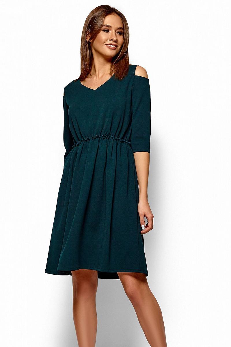 (S / 42-44) Класичне зелене повсякденне плаття Zlata