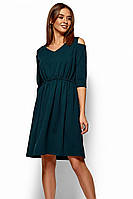 (S, M, L, XL) Класичне зелене повсякденне плаття Zlata